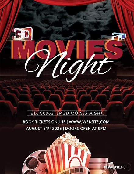 Movie Night Flyer Templates Fresh Free 3d Movies Night Flyer Template Download 675 Flyers In Psd Illustrator Word Publisher