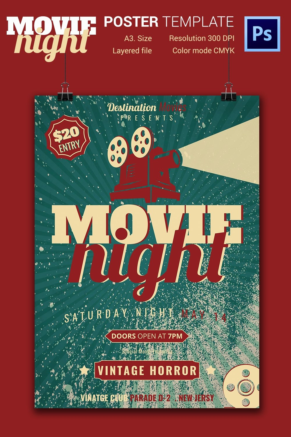 Movie Night Flyer Templates Inspirational Movie Night Flyer Template 25 Free Jpg Psd format Download