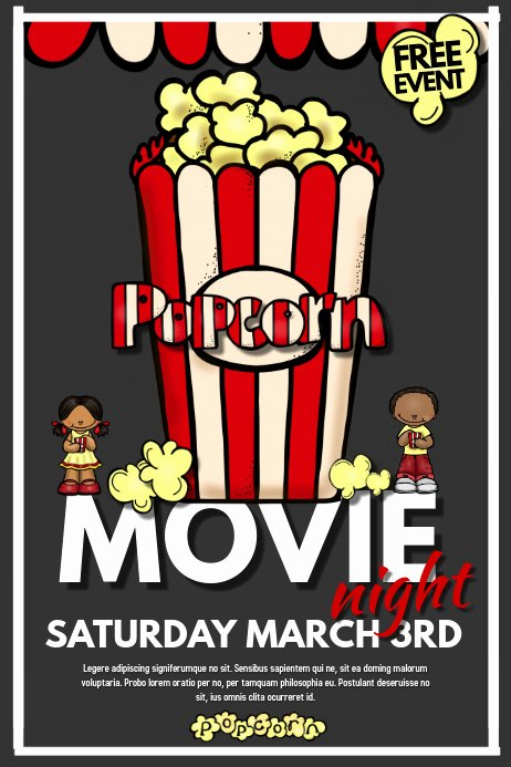 Movie Night Flyer Templates Lovely Movie Night Template