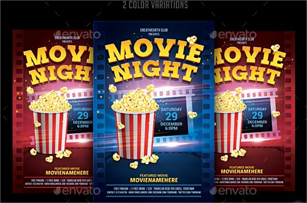 Movie Night Flyer Templates New Movie Night Flyer Template 17 Download In Vector Eps Psd Word