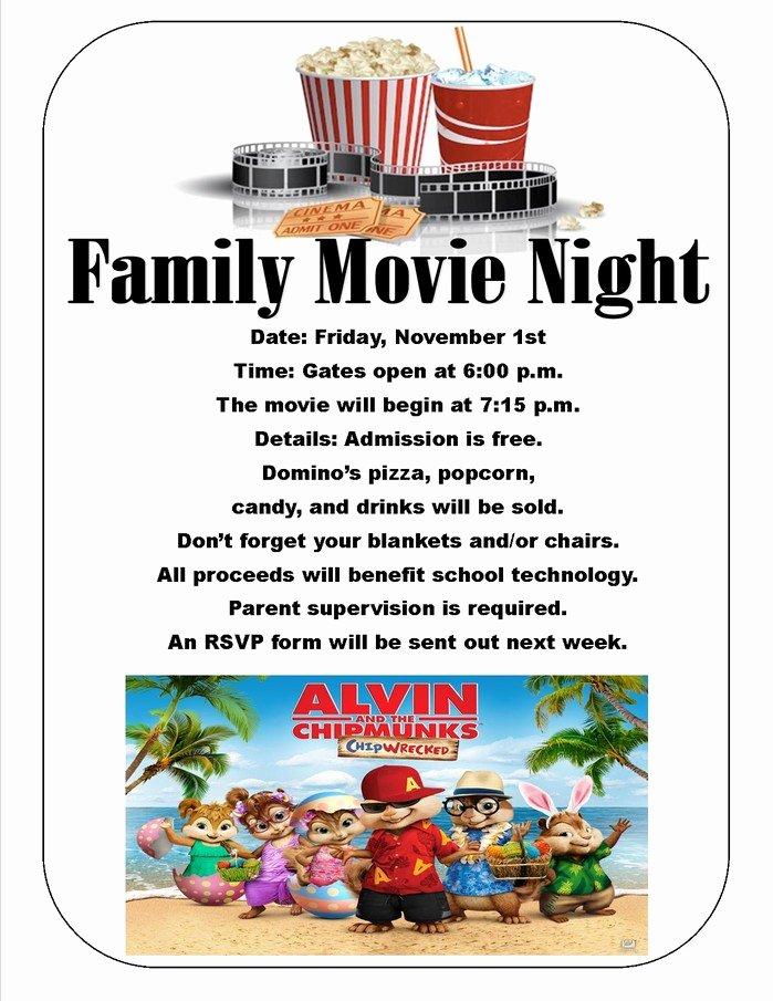 Movie Night Flyer Templates Unique Outdoor Movie Night Flyer Template