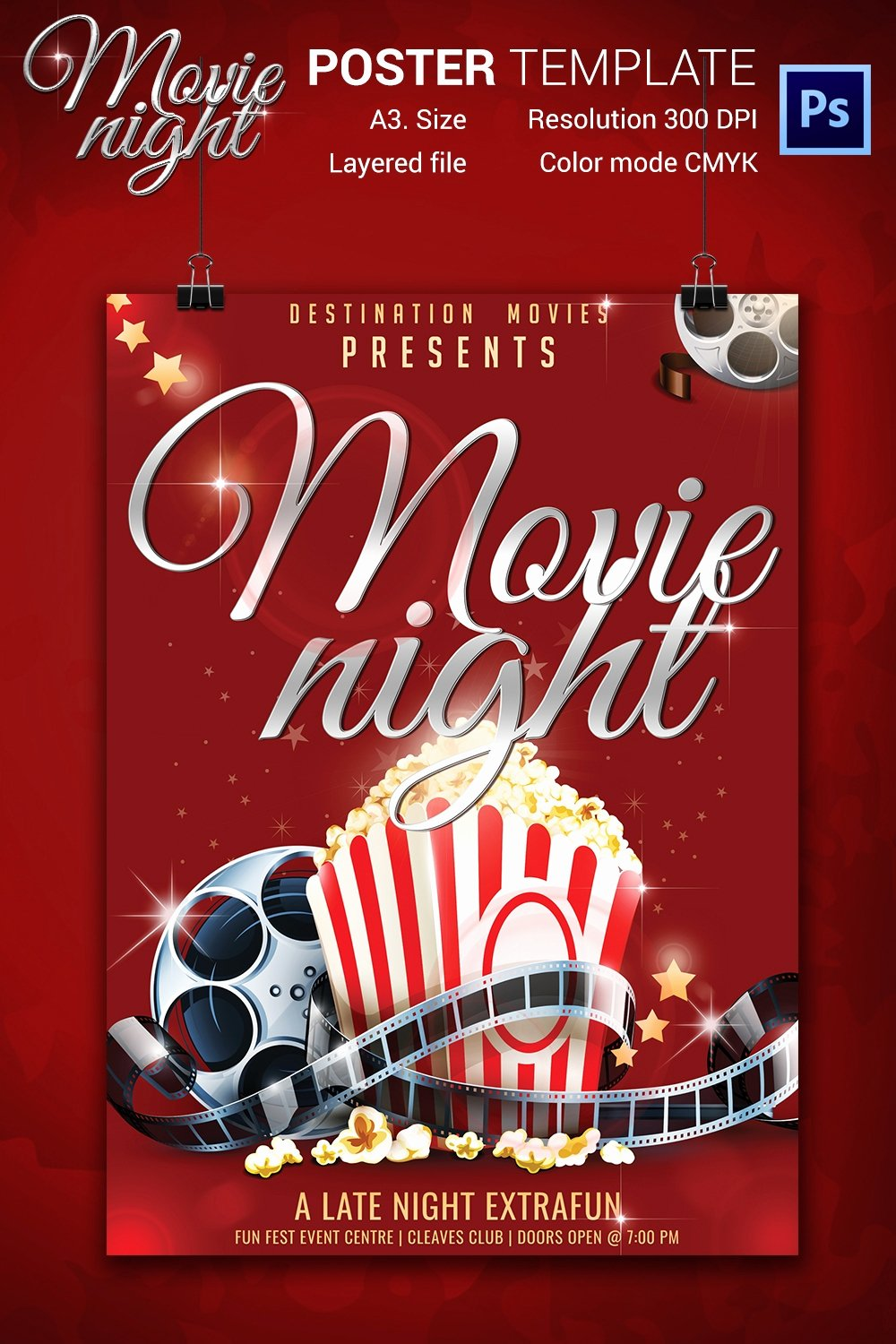 Movie Night Poster Template Beautiful Movie Night Flyer Template 25 Free Jpg Psd format Download