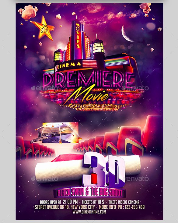 Movie Night Poster Template Best Of 20 Movie Night Flyer Templates Ai Psd Word