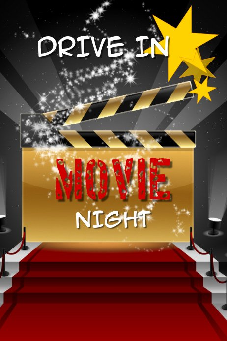 Movie Night Poster Template Fresh Movie Night Template