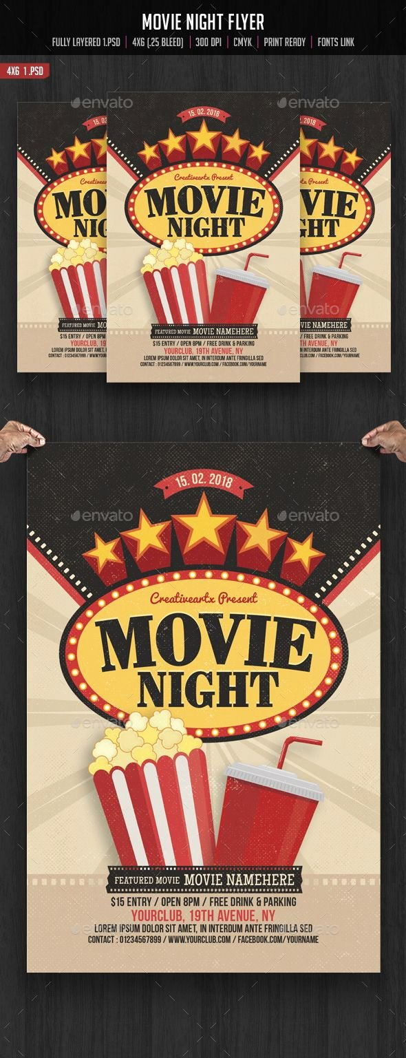 Movie Night Poster Template Luxury 17 Best Images About Flyers Posters On Pinterest