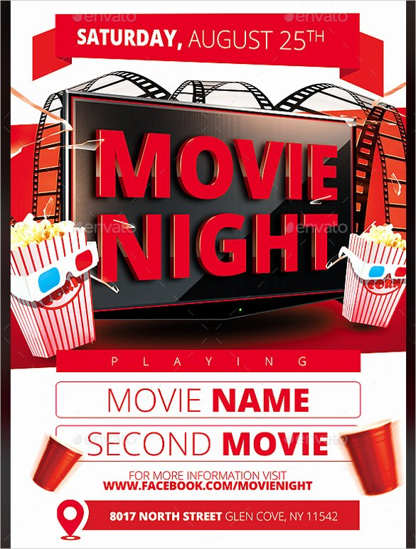 Movie Night Poster Template Unique Movie Night Flyer Template 20 Free Jpg Psd format Download