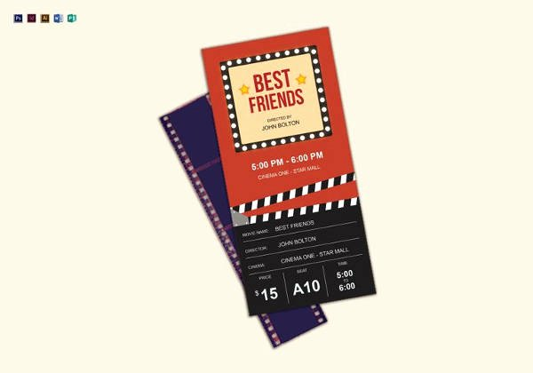 Movie Ticket Template for Word Beautiful 34 Movie Ticket Templates Psd Ai Word