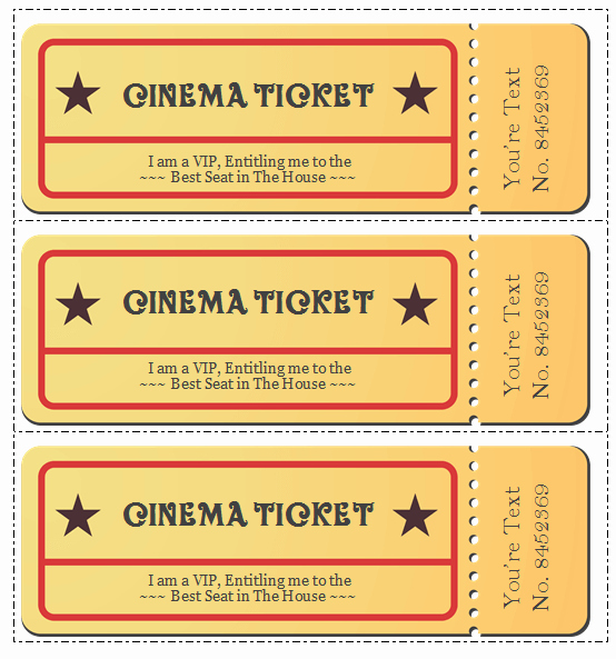 Movie Ticket Template for Word Beautiful 6 Movie Ticket Templates to Design Customized Tickets