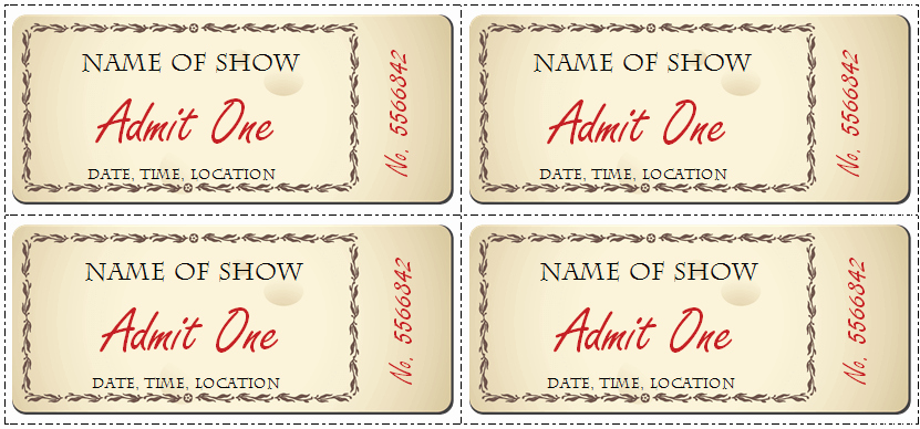 Movie Ticket Template for Word Beautiful 6 Ticket Templates for Word to Design Your Own Free Tickets