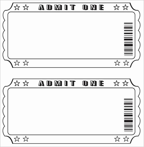 Movie Ticket Template for Word Beautiful Free Raffle Ticket Template