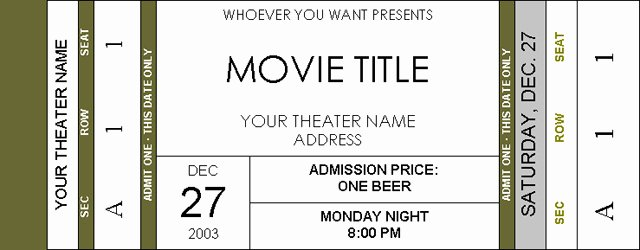 Movie Ticket Template for Word Fresh Movie Ticket Invitations Page 2 Avs forum