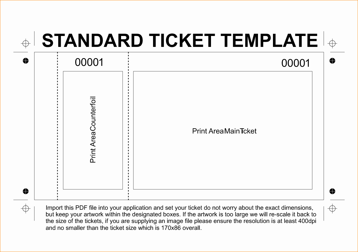 Movie Ticket Template for Word Unique 36 Editable Blank Ticket Template Examples for event Thogati