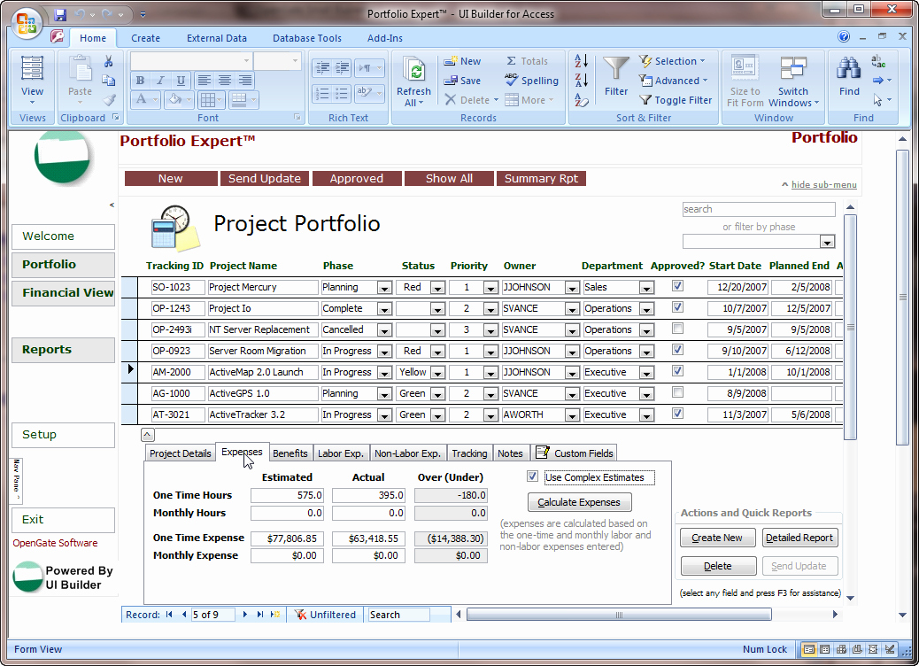 Ms Access Project Management Template Beautiful Microsoft Access Projects Template