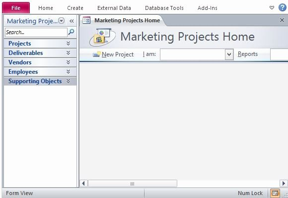 Ms Access Project Management Templates New Desktop Marketing Project Management Database Template for