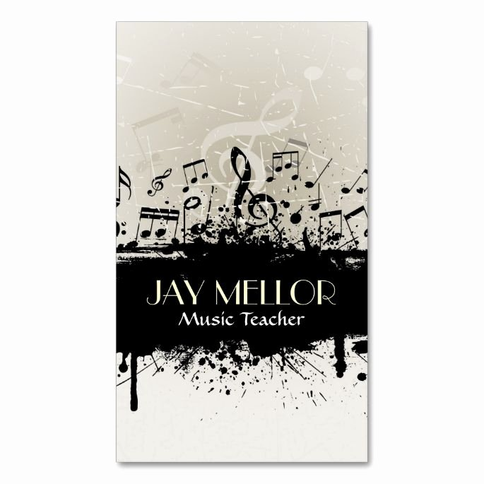 Music Business Card Template Awesome Grunge Music Business Card Zazzle Music Business Card Templates