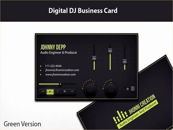 Music Business Card Template Best Of 21 Dj Business Card Templates Ms Word Ai Indesign Apple Pages