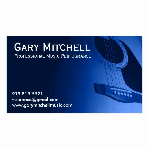 Music Business Card Template Elegant Gary Mitchell Music Double Sided Standard Business Cards Pack 100