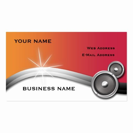 Music Business Card Template Elegant Music Business Card