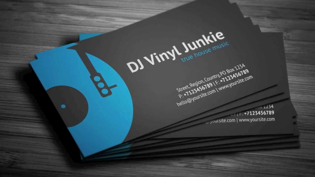 Music Business Card Template Inspirational Vinyl Dj Business Card Template