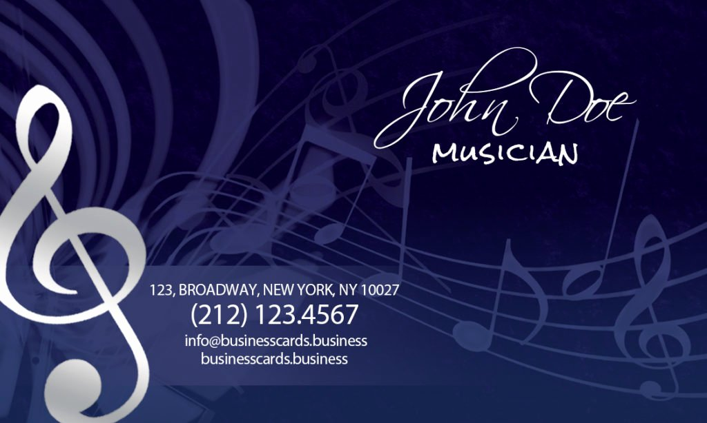 Music Business Card Template Lovely Free Music Business Card Template Business Cards Templates