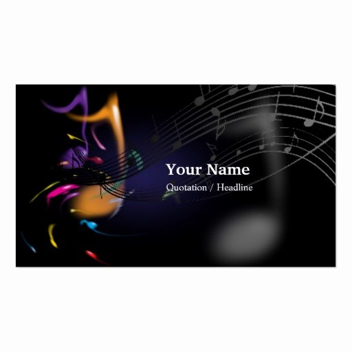 Music Business Card Template Lovely Music Business Card Templates