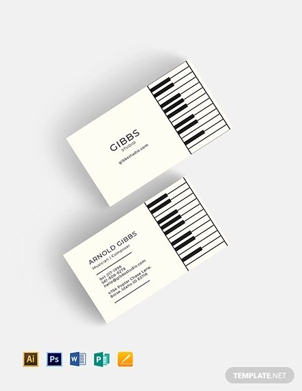 Music Business Cards Template Beautiful 26 Music Business Card Templates Psd Ai Word