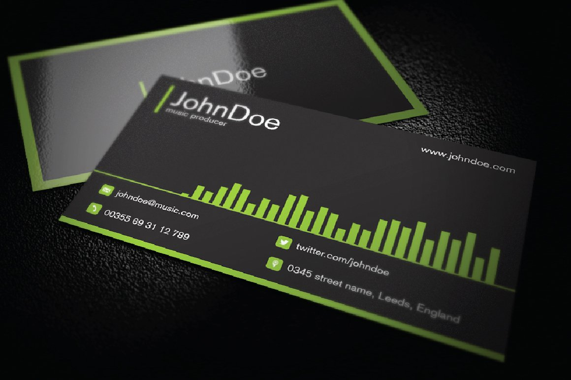 Music Business Cards Template Best Of Music Business Cards Business Card Tips