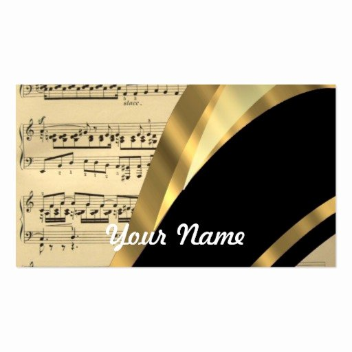 Music Business Cards Template Elegant Music Business Card Templates