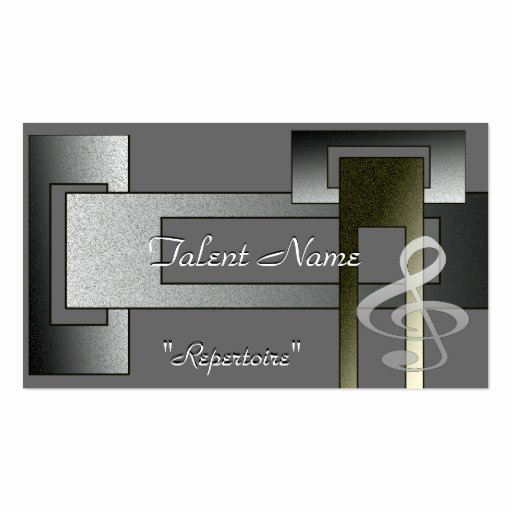 Music Business Cards Template Inspirational Music Talent Business Card Template