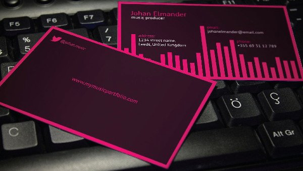 Music Business Cards Template Lovely Music Business Card Template 29 Free & Premium Download