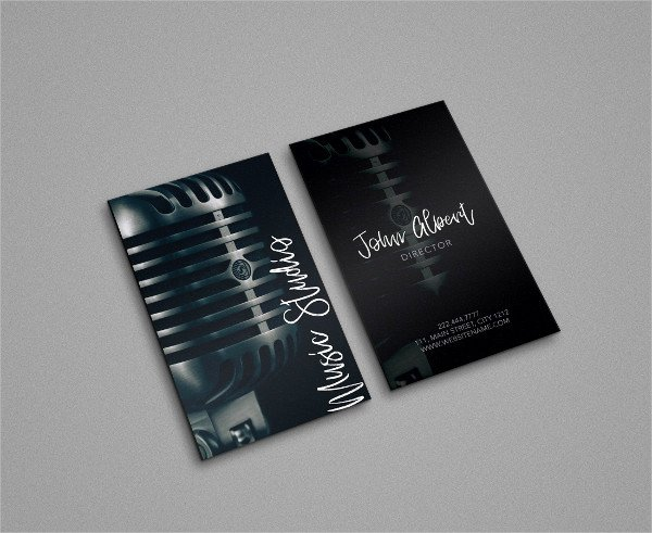 Music Business Cards Template Luxury 29 Music Business Card Templates Free & Premium Download