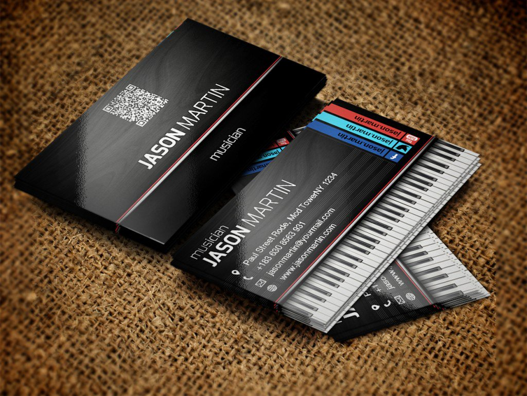 Music Business Cards Template Luxury Free Musician Business Cards