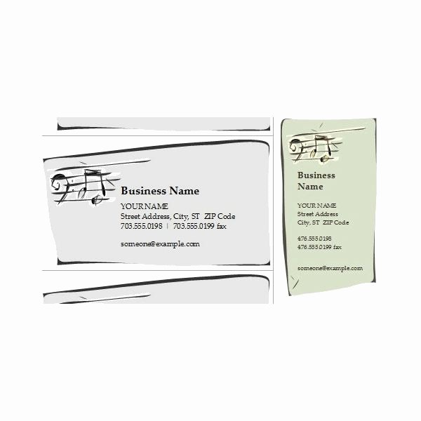 Music Business Cards Template New Jazz Band Business Card Templates for All Musicians