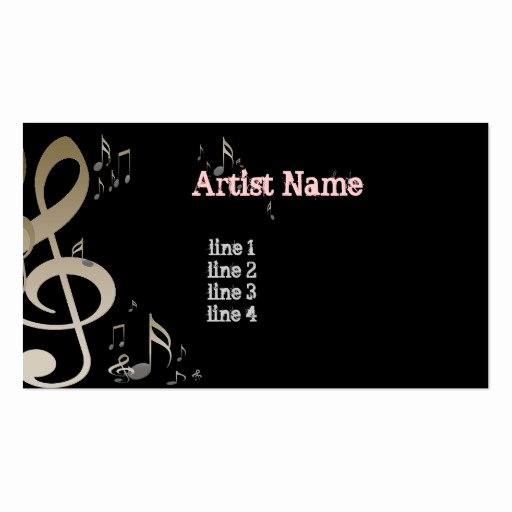 Music Business Cards Template Unique Music Artist Business Profile Card Business Card Templates