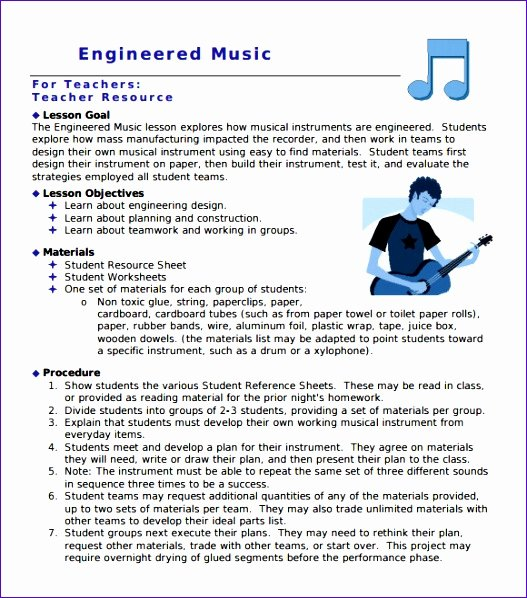 Music Lesson Plan Template Unique 10 Loan Calculator Excel Template Exceltemplates Exceltemplates