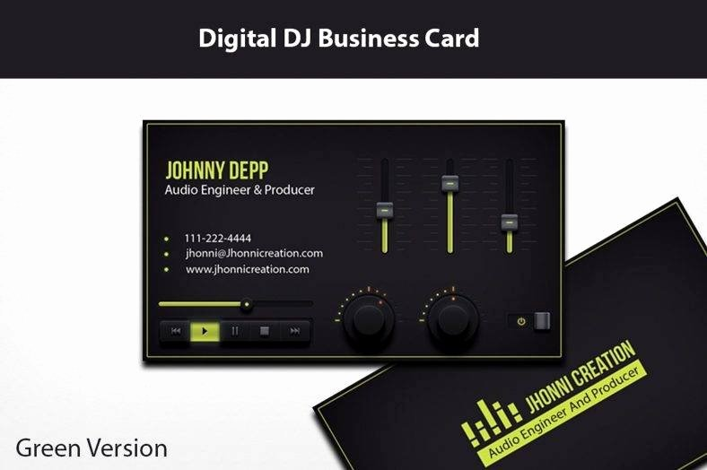 Music Producer Business Cards Awesome 14 Producer Business Card Designs & Templates Psd Ai Indesign Pdf Doc