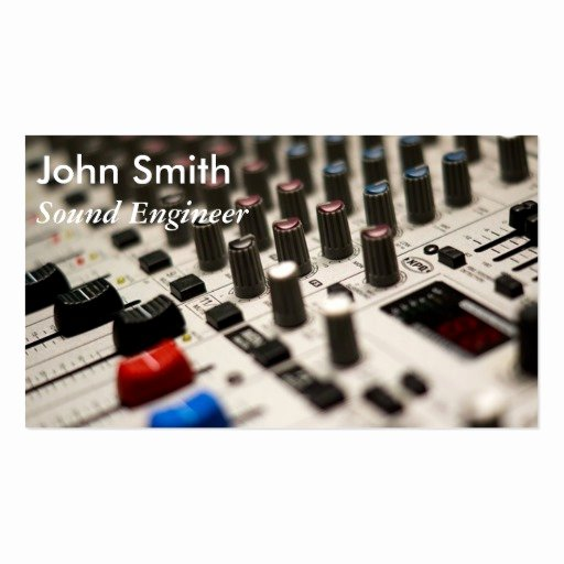 Music Producer Business Cards Beautiful sound Engineer Freelance Music Producer Stylish Business Card