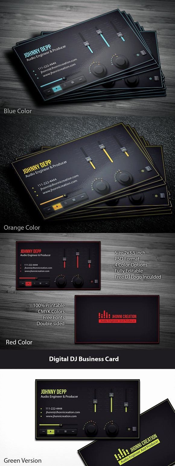 Music Producer Business Cards Best Of Music Producer and Dj Business Card Music Design