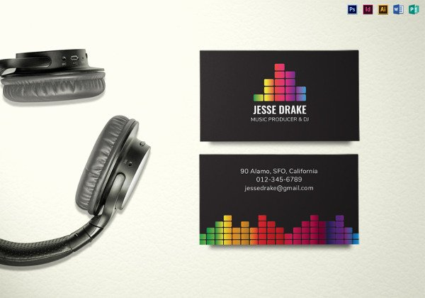 Music Producer Business Cards Elegant 26 Music Business Card Templates Psd Ai Word