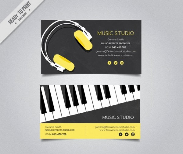 Music Producer Business Cards Fresh 25 Dj Business Card Templates Free & Premium Download