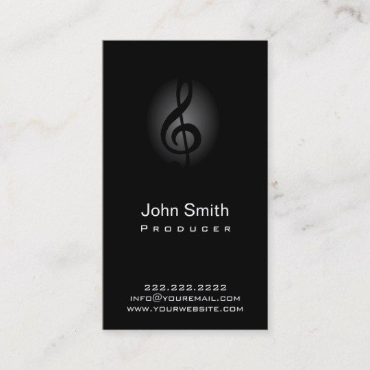 Music Producer Business Cards Fresh Classy Dark Clef Producer Business Card