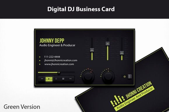 Music Producer Business Cards Inspirational Music Producer and Dj Business Card Creativework247