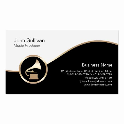 Music Producer Business Cards Lovely Music Producer Business Card Gold Gramophone Icon