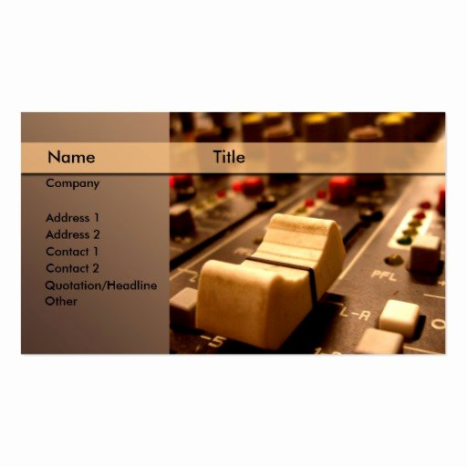 Music Producer Business Cards Lovely sound Music Producer Mixer Business Card