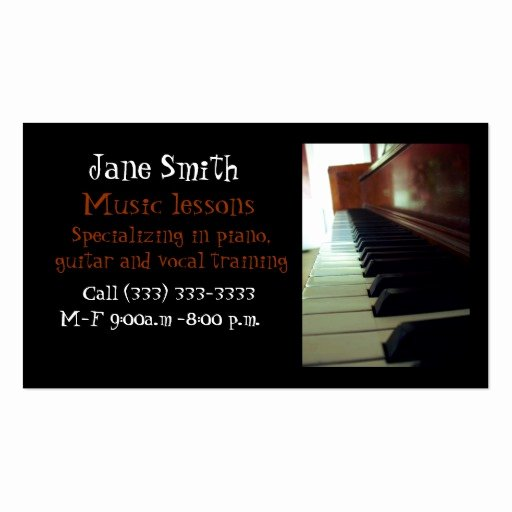 Musician Business Card Examples Best Of Music Business Card Templates