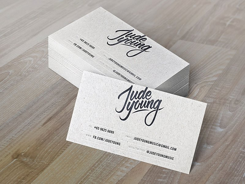 Musician Business Card Examples Best Of Name Card Design by Jeremy Kieran Dribbble
