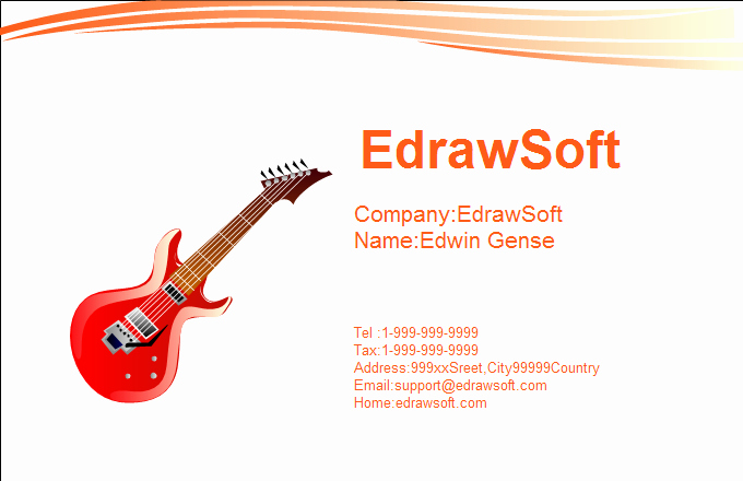 Musician Business Card Examples Elegant Music Business Card Templates