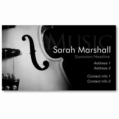 Musician Business Card Examples Fresh Custom Design Business Card Templates — Stylish Violin Musician Business