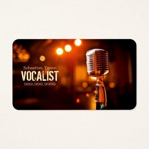 Musician Business Card Examples Inspirational Vocalist Singer Performer Music Lessons Mic Business Card Zazzle Singers