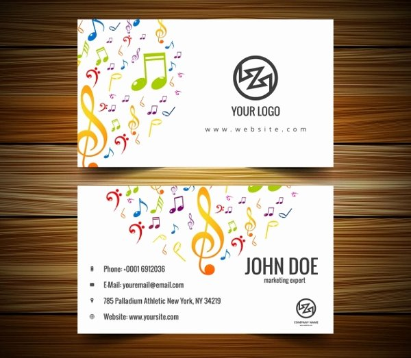 Musician Business Card Examples Lovely 26 Music Business Card Templates Psd Ai Word